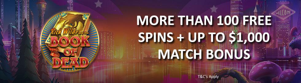 More Than 100 Free Spins + Up To $1,000 Match Bonus