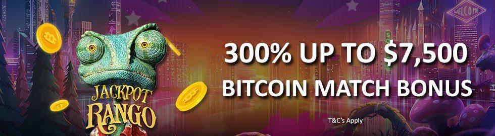 Up To $7,500 Bitcoin Match Bonus