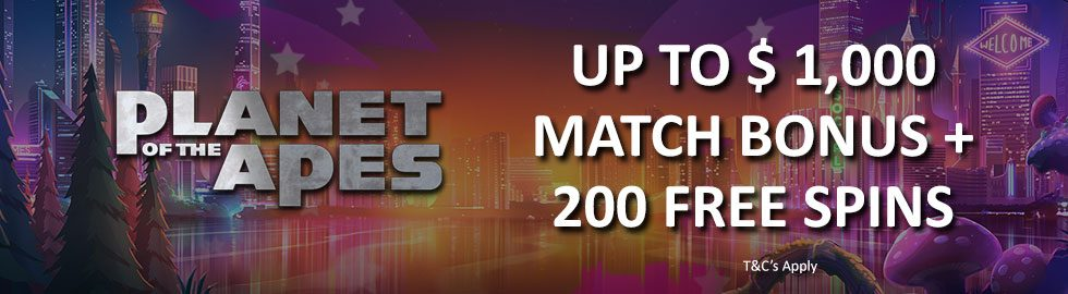 Up To $1,000 Match Bonus + 200 Free Spins