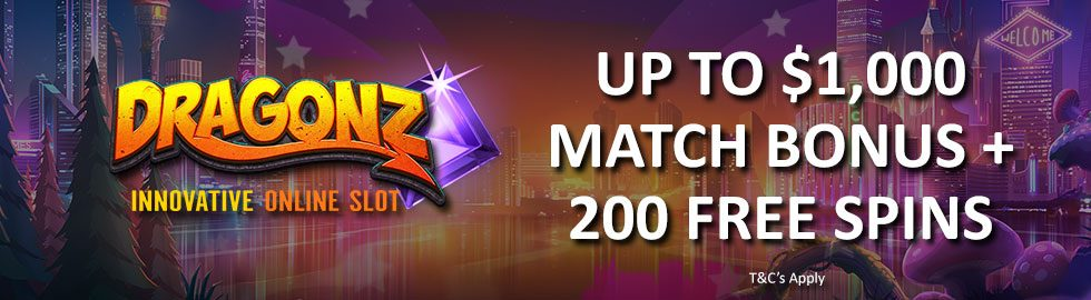 Up To $1,000 Match Bonus + 200 Free Spins