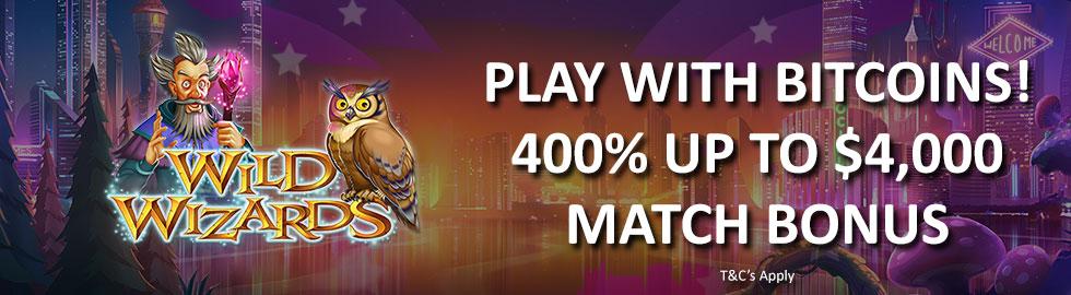 400% Up To $4,000 Match Bonus