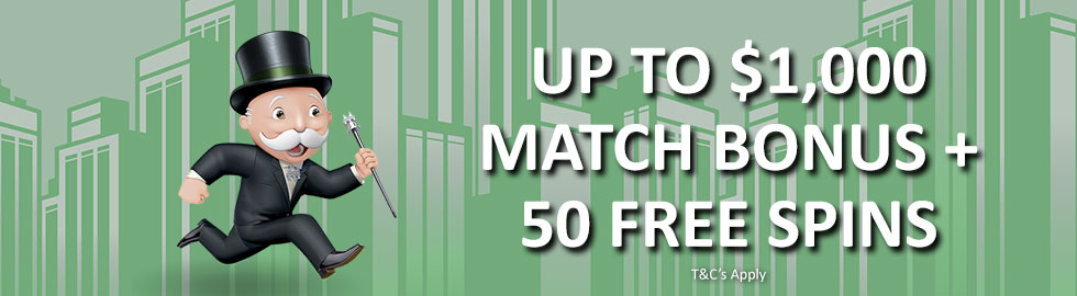 Up To $1,000 + 50 Free Spins