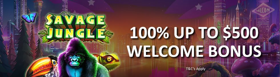 100% up to $500 Welcome Bonus