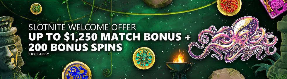 Up To $1,250 Match Bonus + 200 Bonus Spins