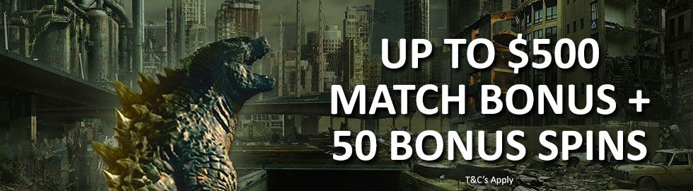 Up To $500 Match Bonus + 50 Bonus Spins
