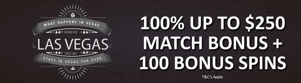 100% Up To $250 Match Bonus + 100 Bonus Spins