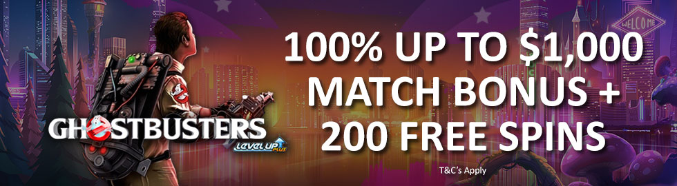 100% Up To $1,000 Match Bonus + 200 Free Spins