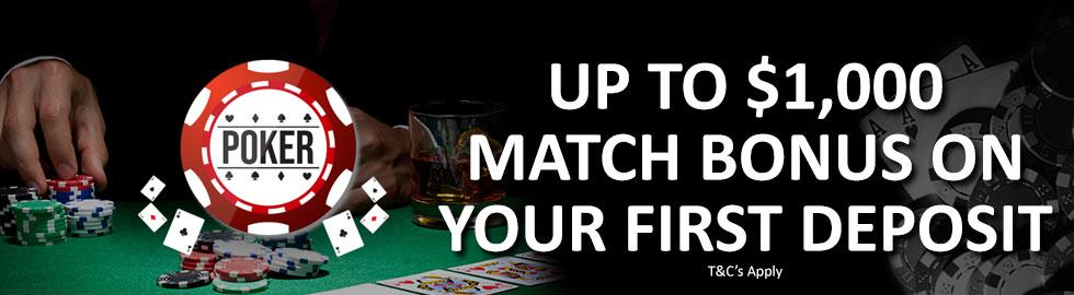 Up To $1,000 Match Bonus