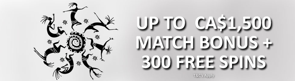 Up To CA$1,500 Match Bonus + 300 Free Spins